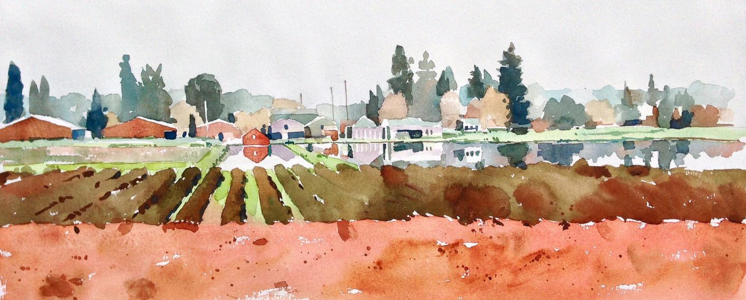 """Fraser Valley Cranberry Farm,"" Wayne Bissky"