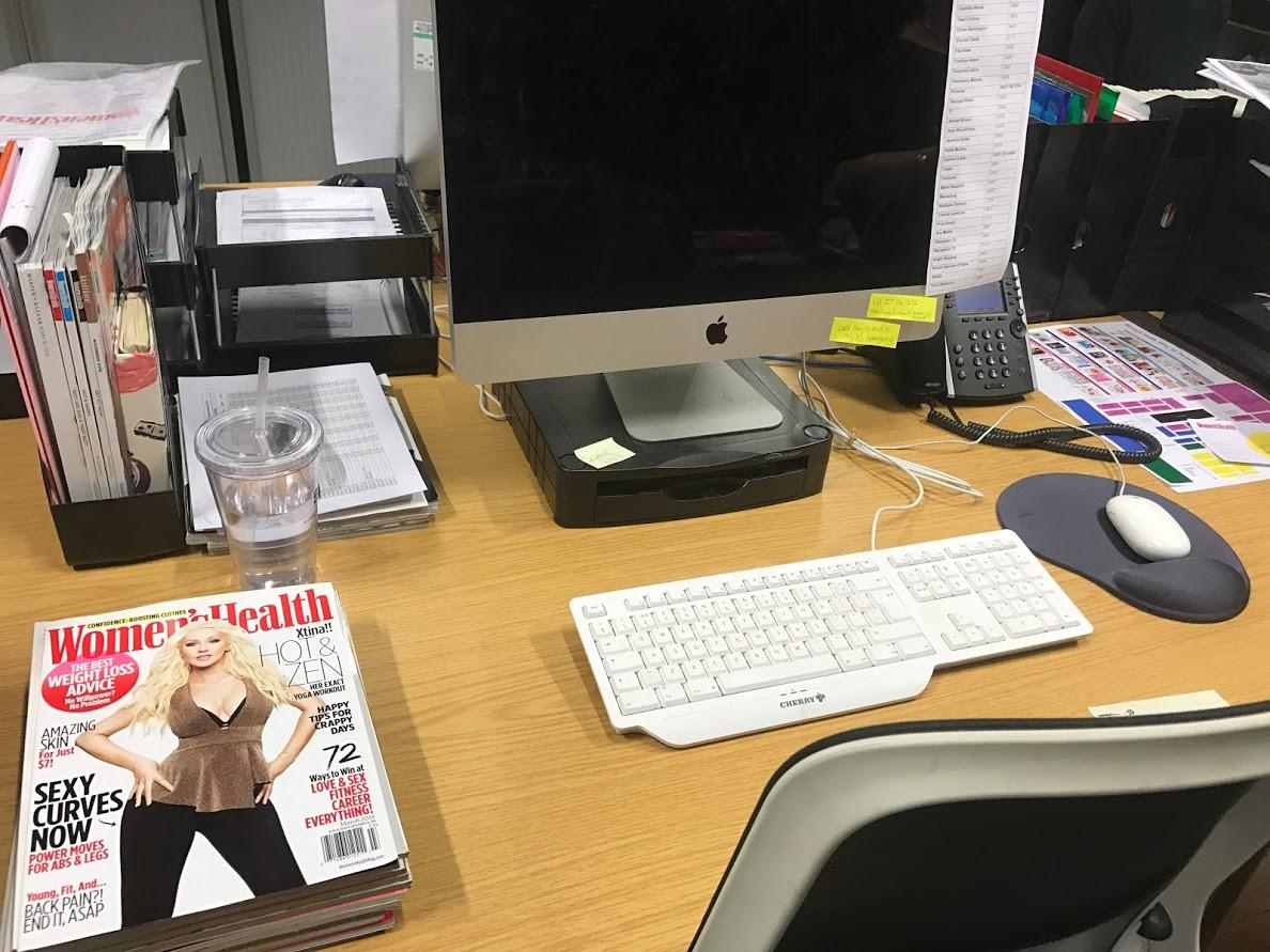 My desk at Women's Health