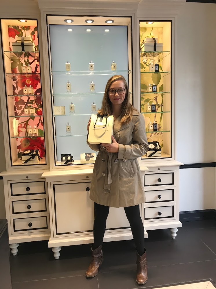 At the Jo Malone flagship store, in Oxford Circus, bringing home a very special British brand