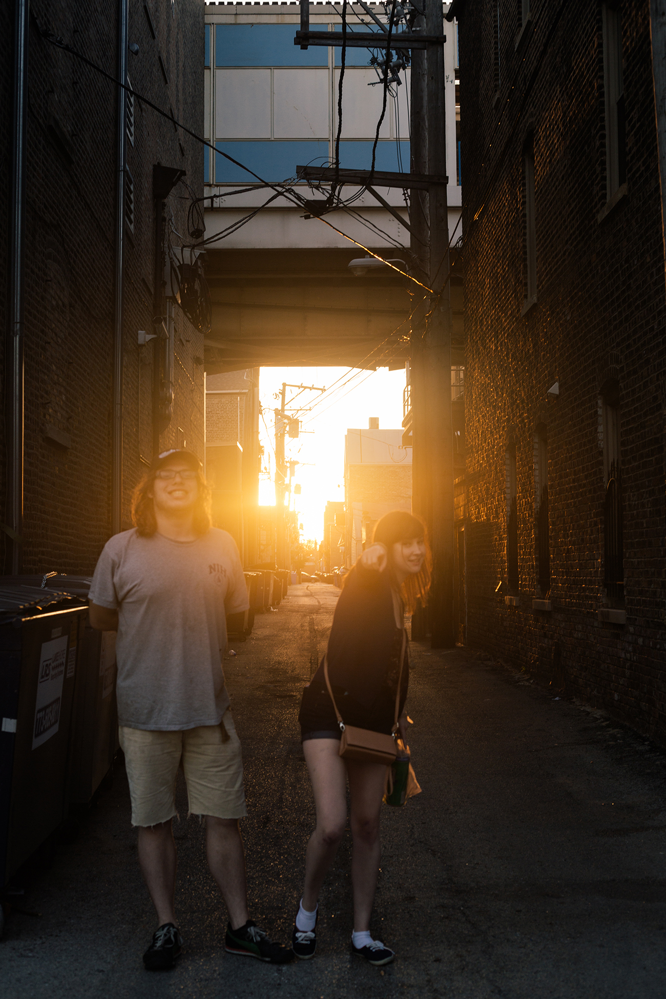 Aust & Jess in an alley