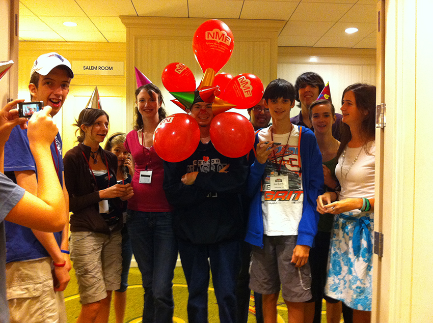 NMF Teens Goofing Around at the Conference