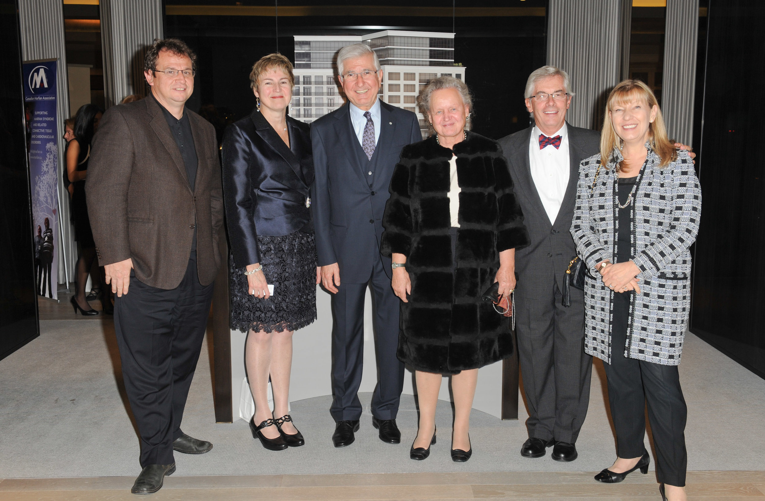 Left to right: Dr. Tim Bradley, Dr. Nanette Alvarez, Dr. Tirone E. David, Dr. Irene Maumenee, Dr. Reed E. Pyeritz and Dr. Dianna Milewicz
