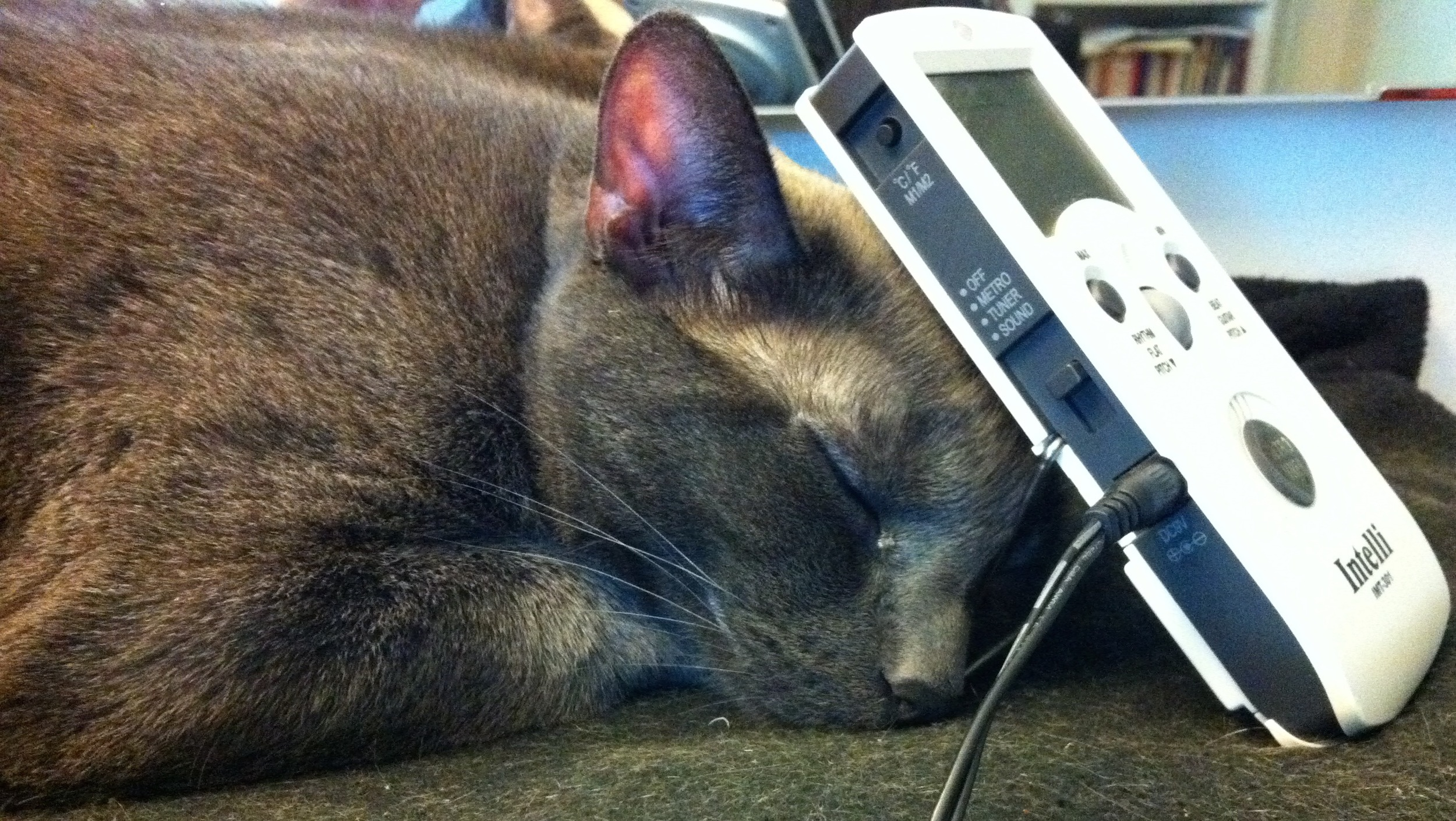 Odin demonstrates the use of the metronome as a sleep aid.