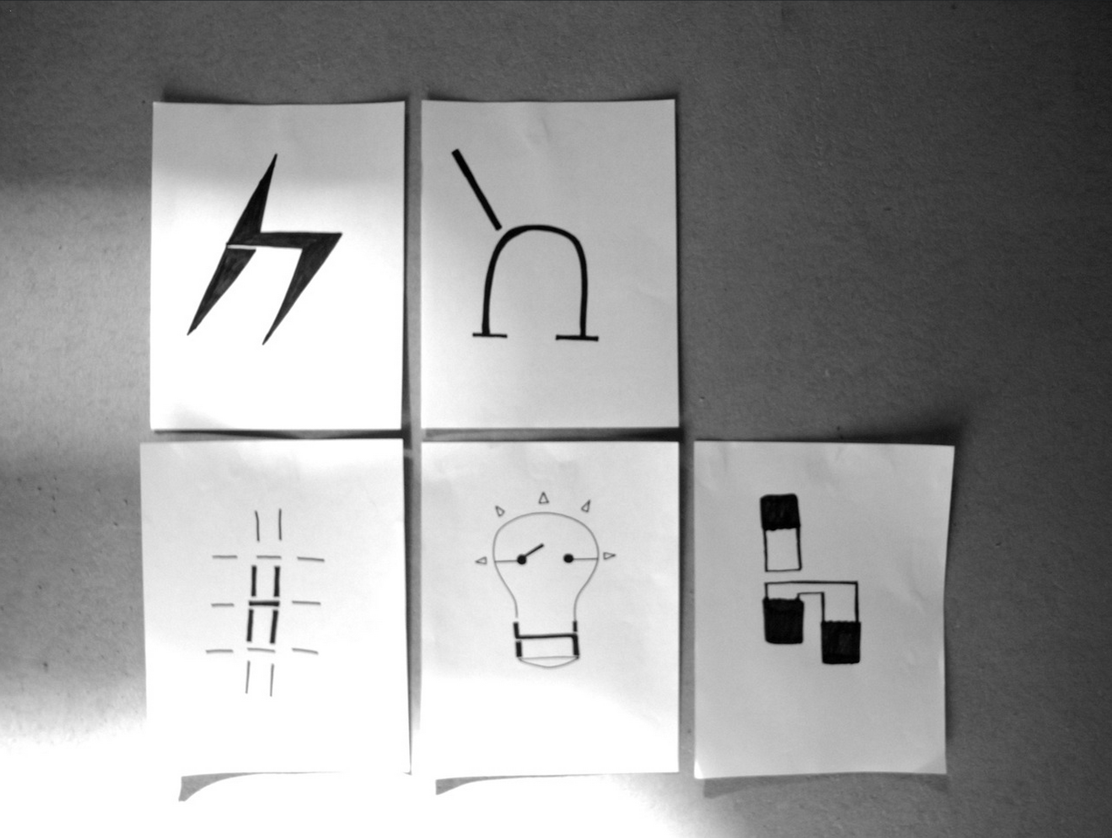 A few of the 'h' sketches from the timed in-class exercise.