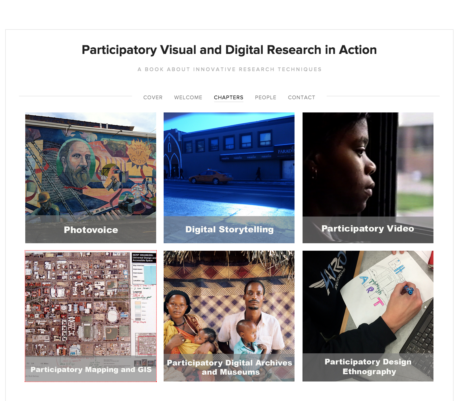 Featured on  Participatory Visual and Digital Research in Action website the 'Participatory Design Ethnography' section