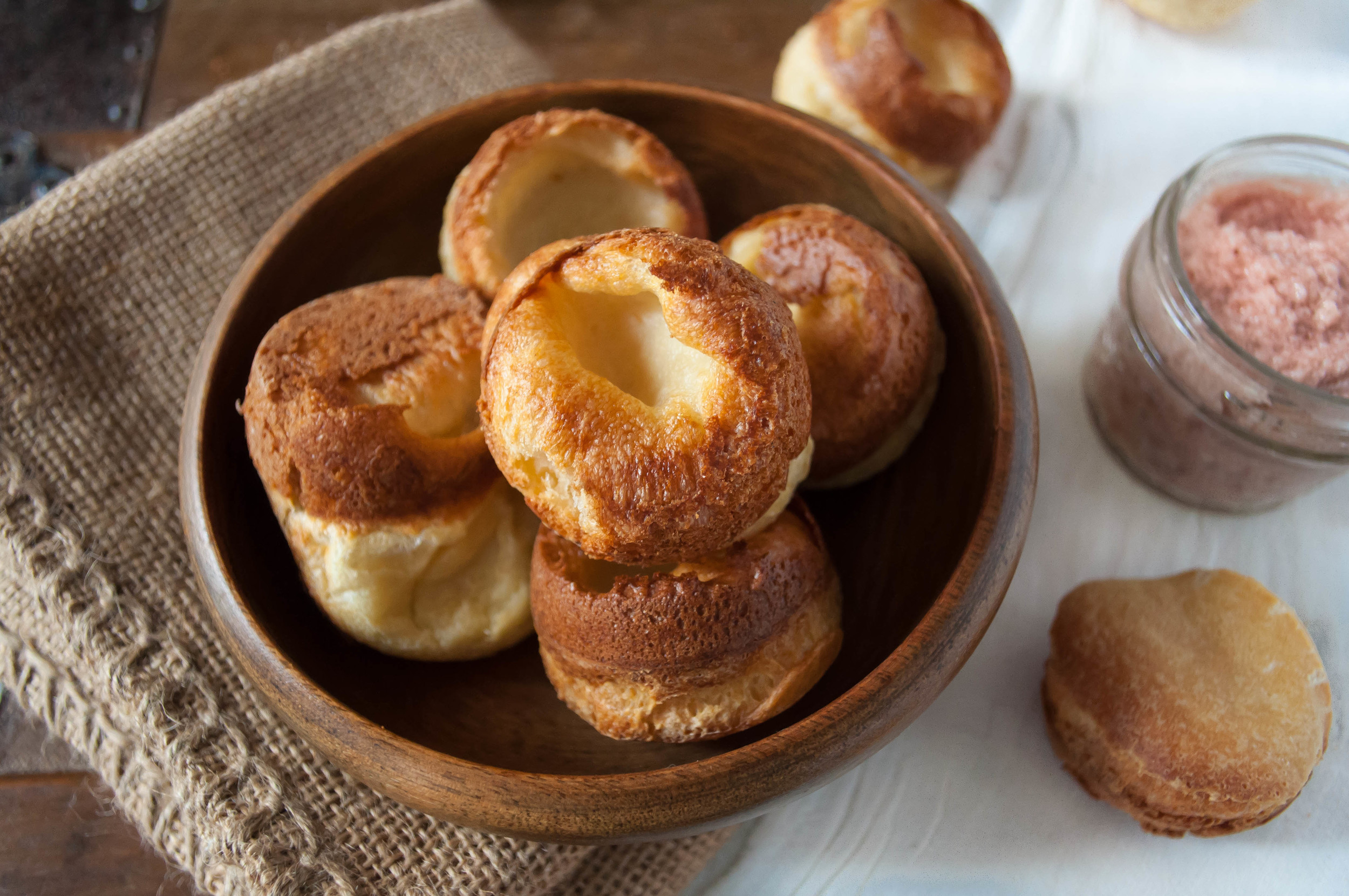 Mini Popovers with Whipped Strawberry Butter