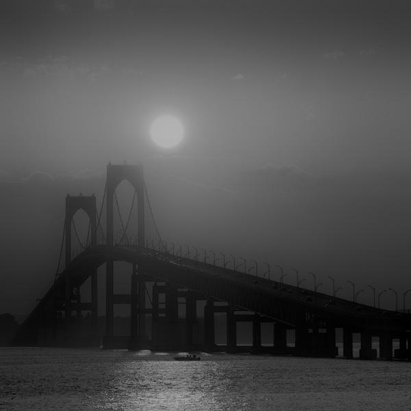 Newport Bridge, Sunset