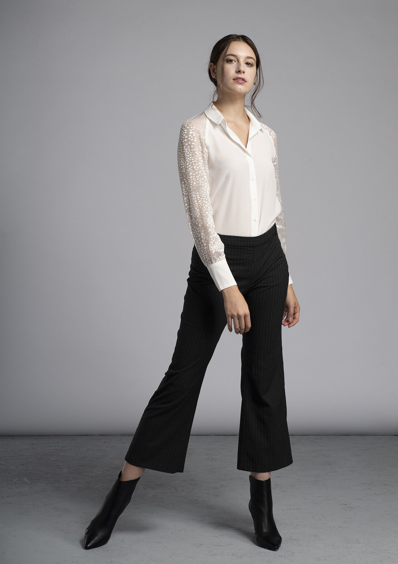 Made-to-measure women's Stevie silk blouse