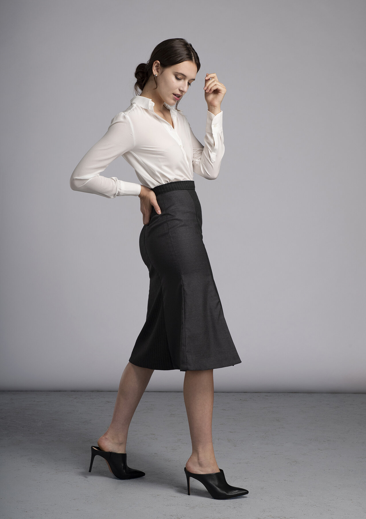 Made-to-measure Stevie Blouse and Morgan Bell Skirt