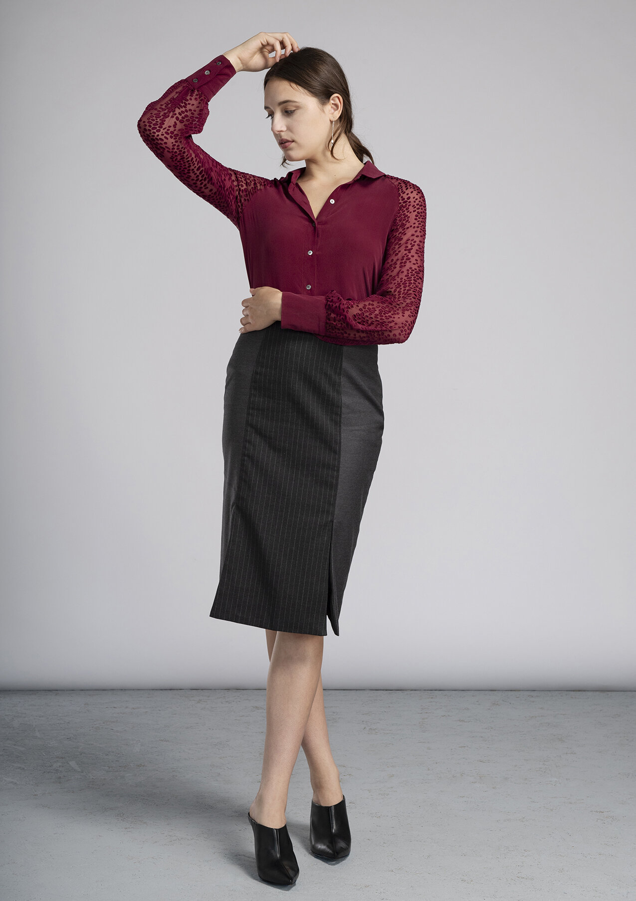 Women's made to measure blouse and pencil skirt