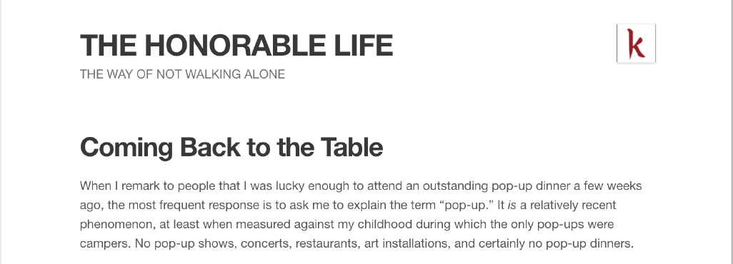 Read about us in The Honorable Life →