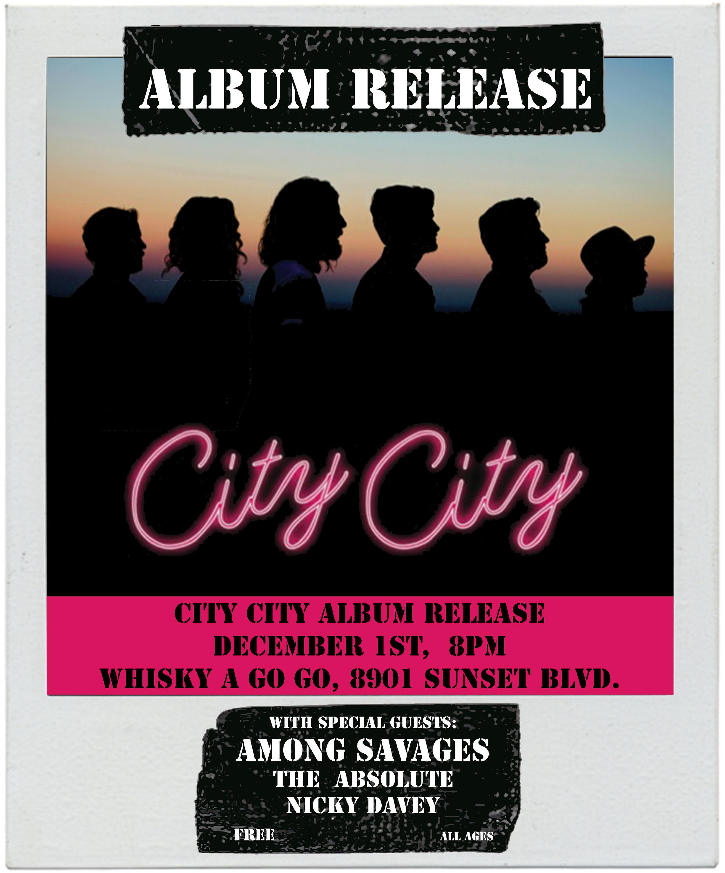 City City Album Release Flyer