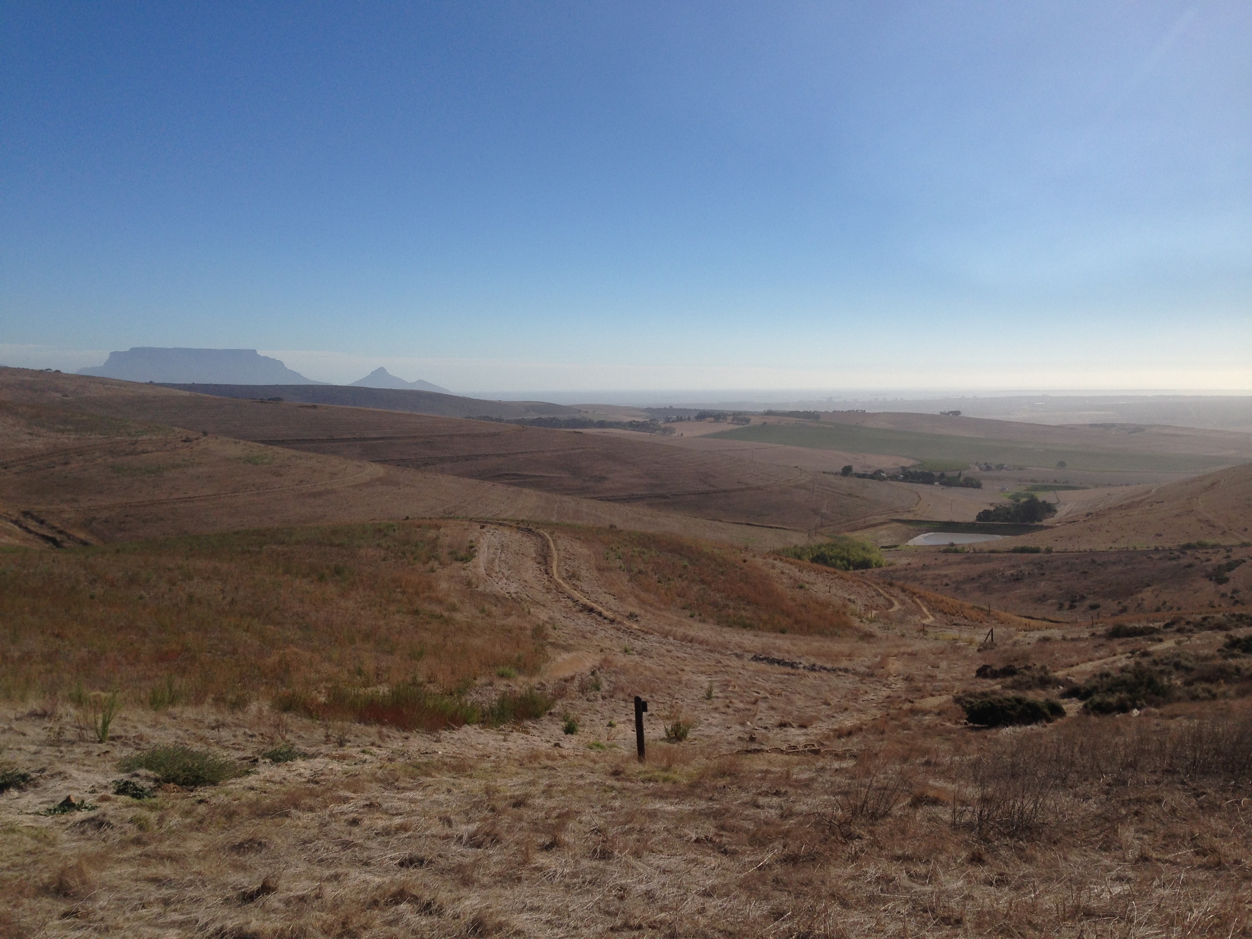 the view from the trails around Meerendal. Nice to see the Tafelberg in Capetown!