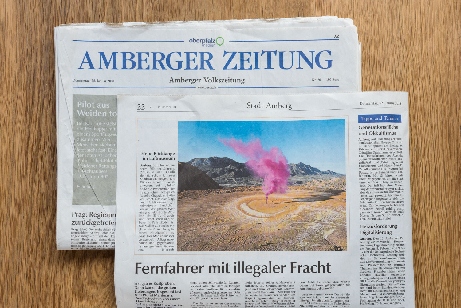 Isabelle and Alexis - Amberger Zeitung.jpg