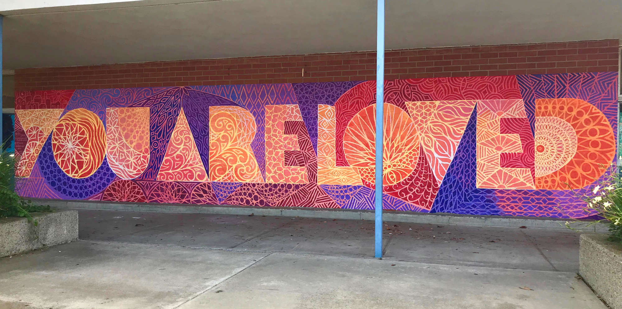 YOU ARE LOVED Mural, Lincoln Elementary, Newport Beach, CA