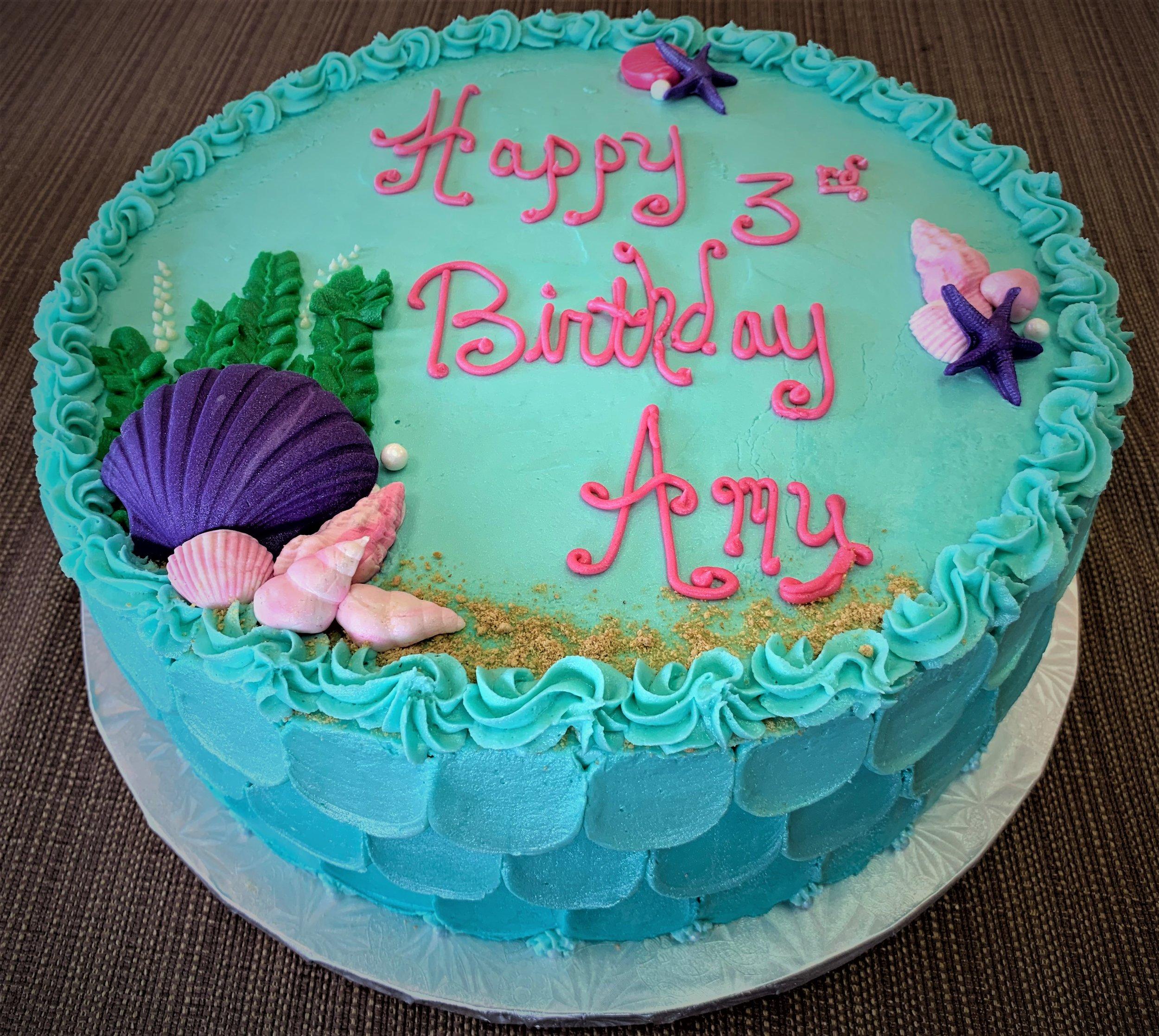 Gateaux Bakery & Cafe Beautiful Seashell Birthday Cake 4.6.19.jpeg