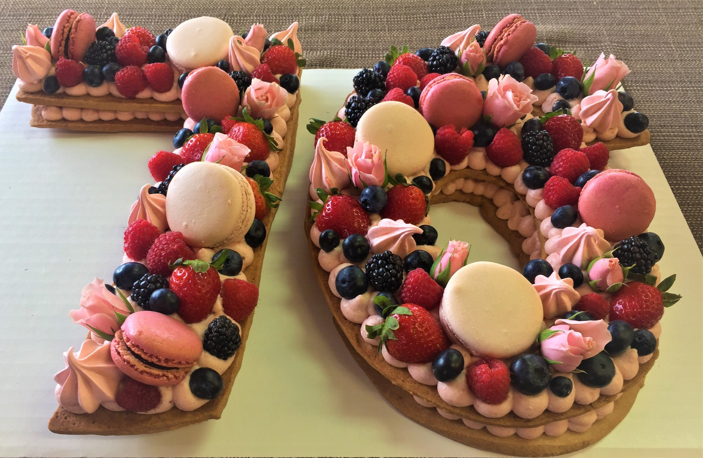 Call now to order our ultra trendy French Number Cakes! (757) 271-9220