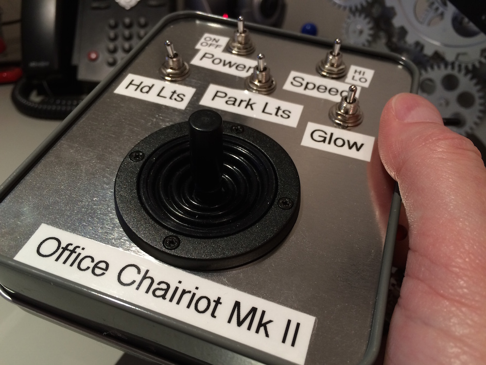 Office Chairiot Mark II Remote Control - Joystick and Switches