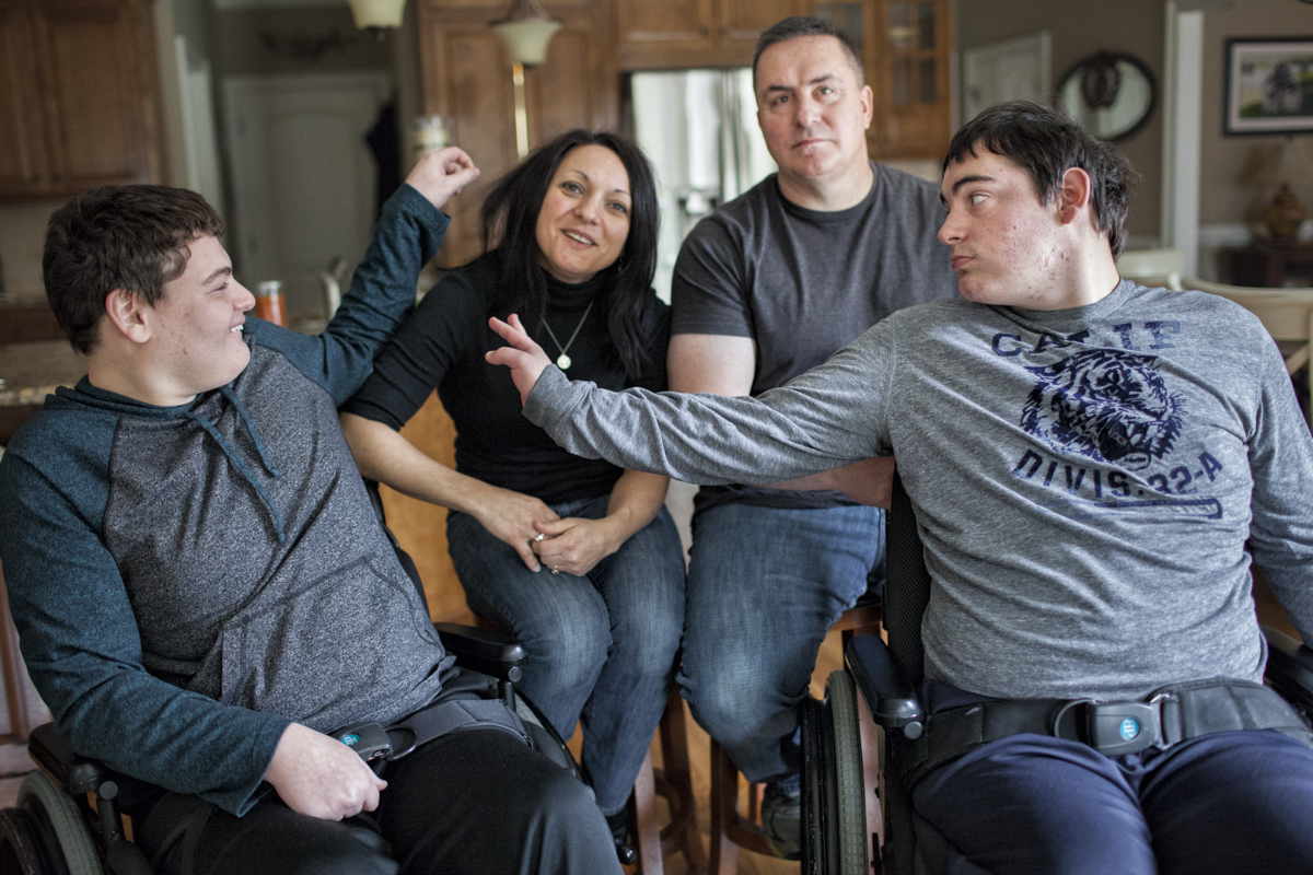 Pat and Dianehave two sons, Aaron and Ryan, both of whomare living with a developmental disability and on the short-term waiting list for a Medicaid waiver.Aaron ages out of high school inMay of 2015 and has no transition plan in place. Neither of these young men have funding for support services. Any significant event to either parent puts the entire family at great risk.(Full Story)
