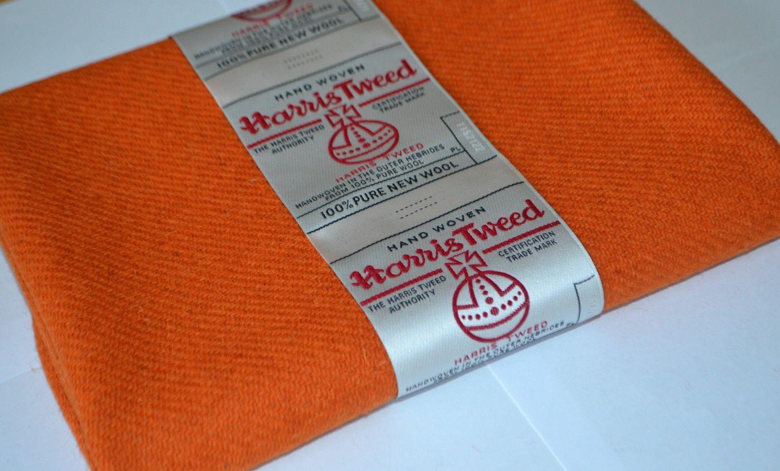 Burnt Orange Wool by Harris Tweed