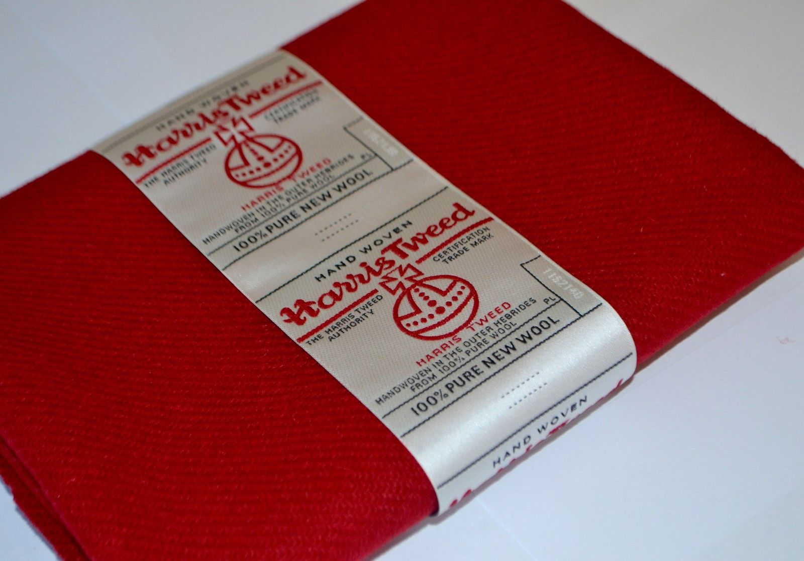 Red Wool by Harris Tweed