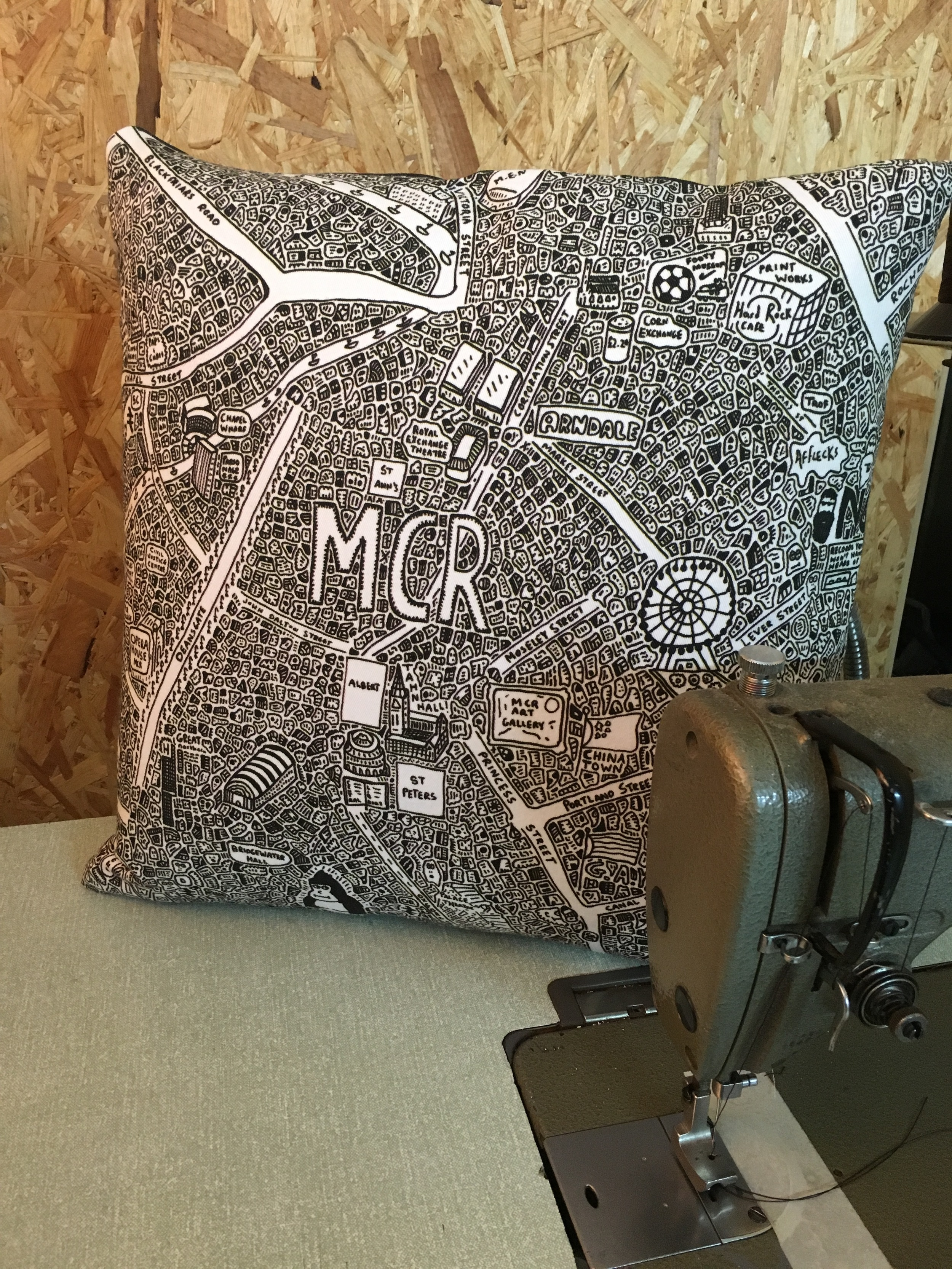 Doodle Map Cushions