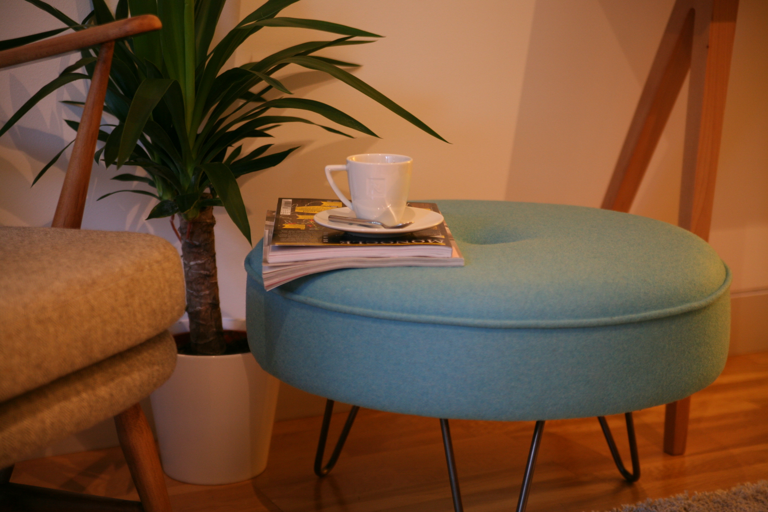 Hairpin Footstool Large