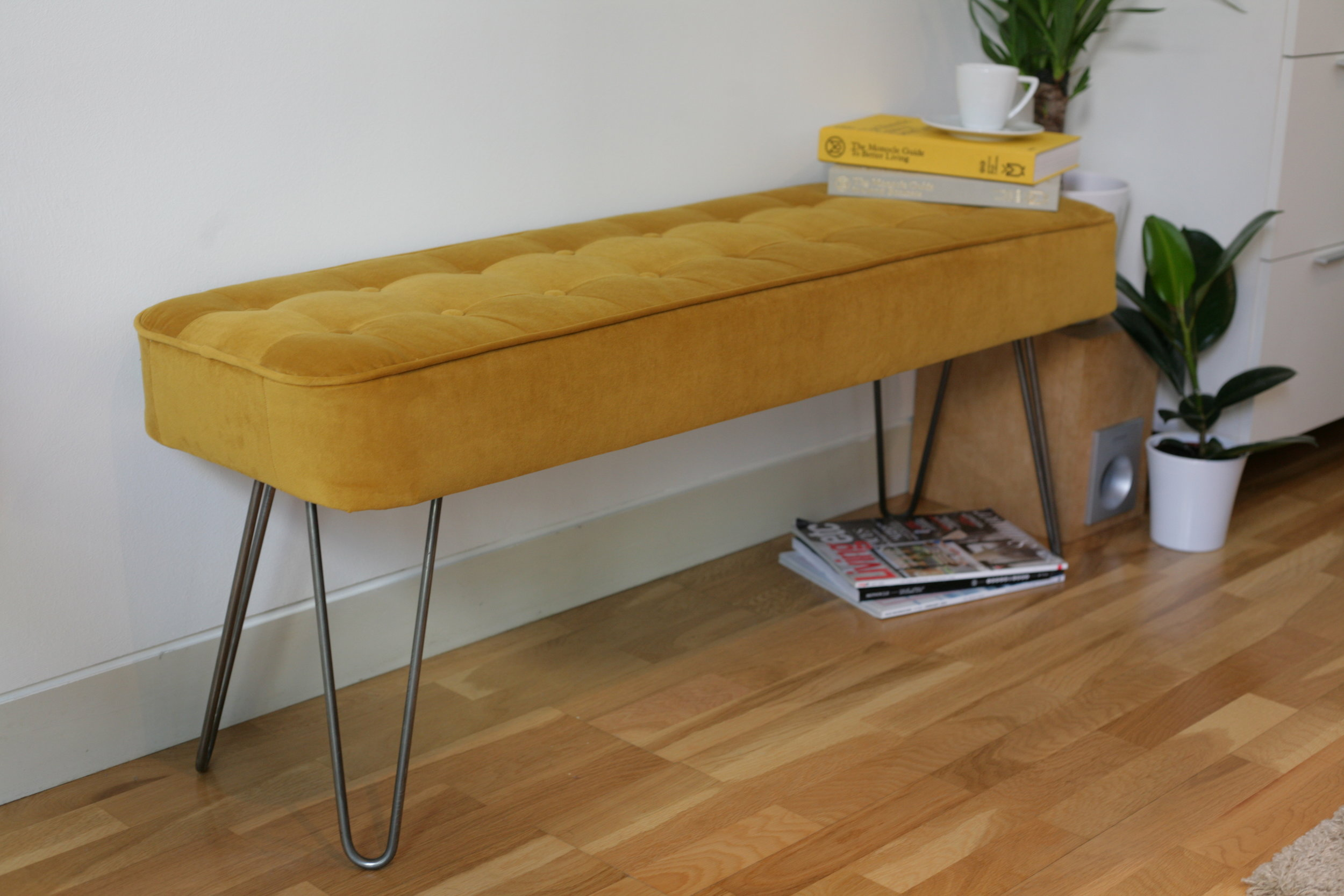 Mid-century modern bench small