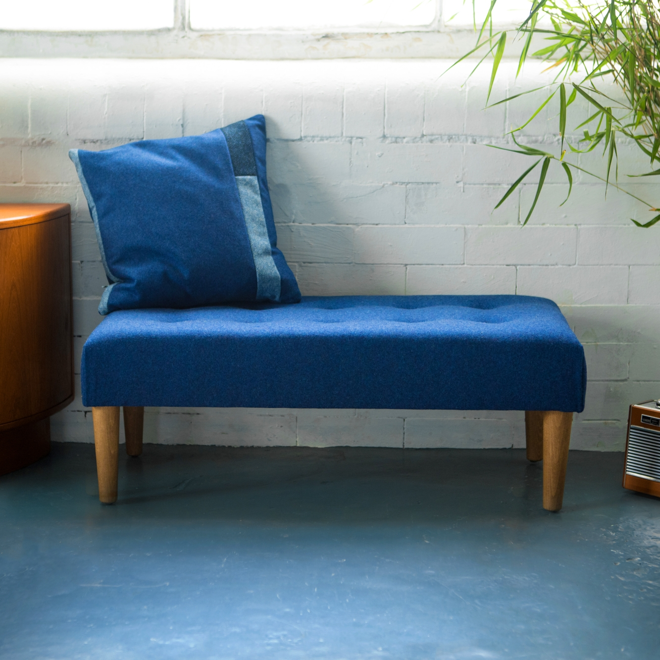 Classic Footstool Large - A wider footstool version that works as a bench too!