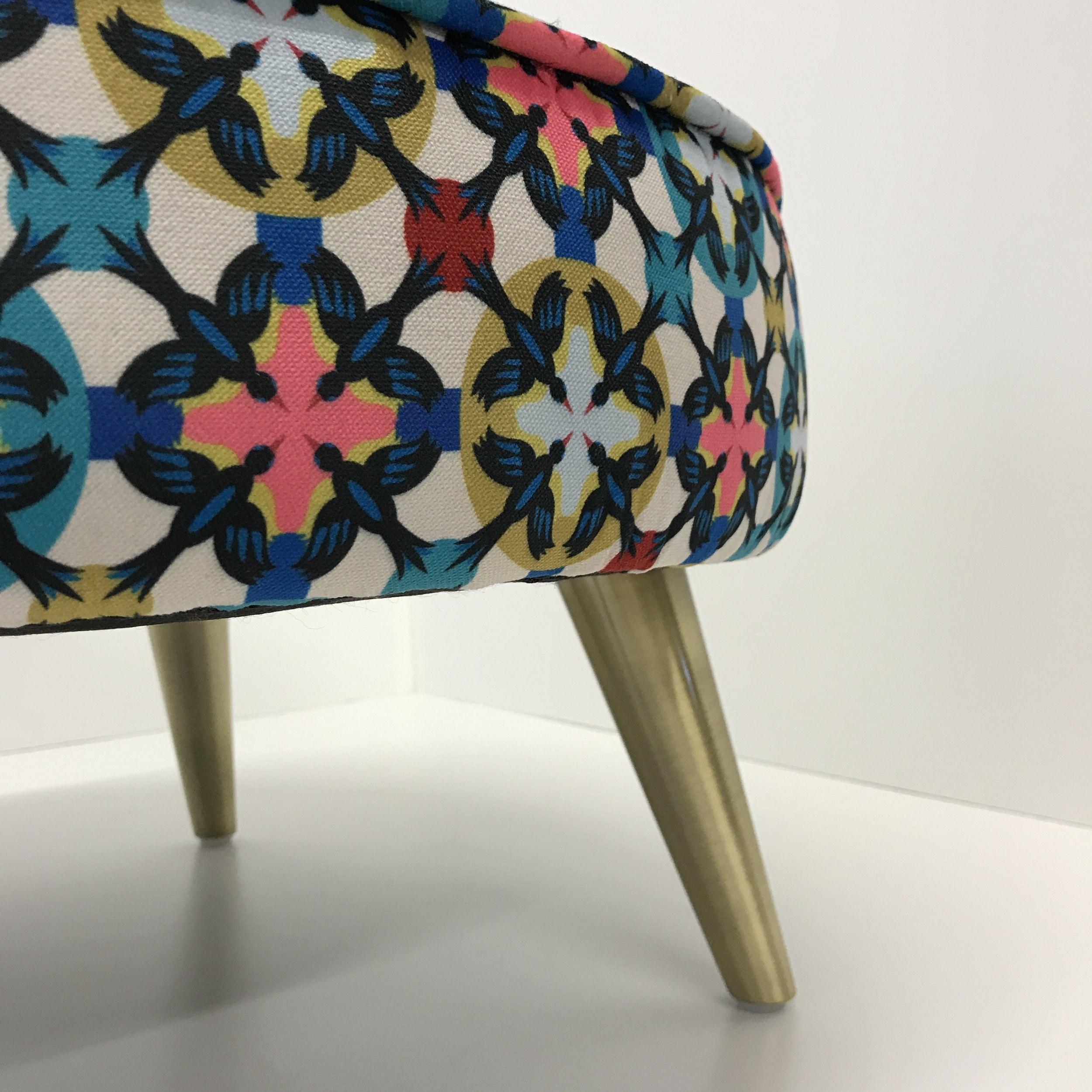 [new]  Patternistas Fabrics & new legs - These new tapered brass legs work well with our new fabrics