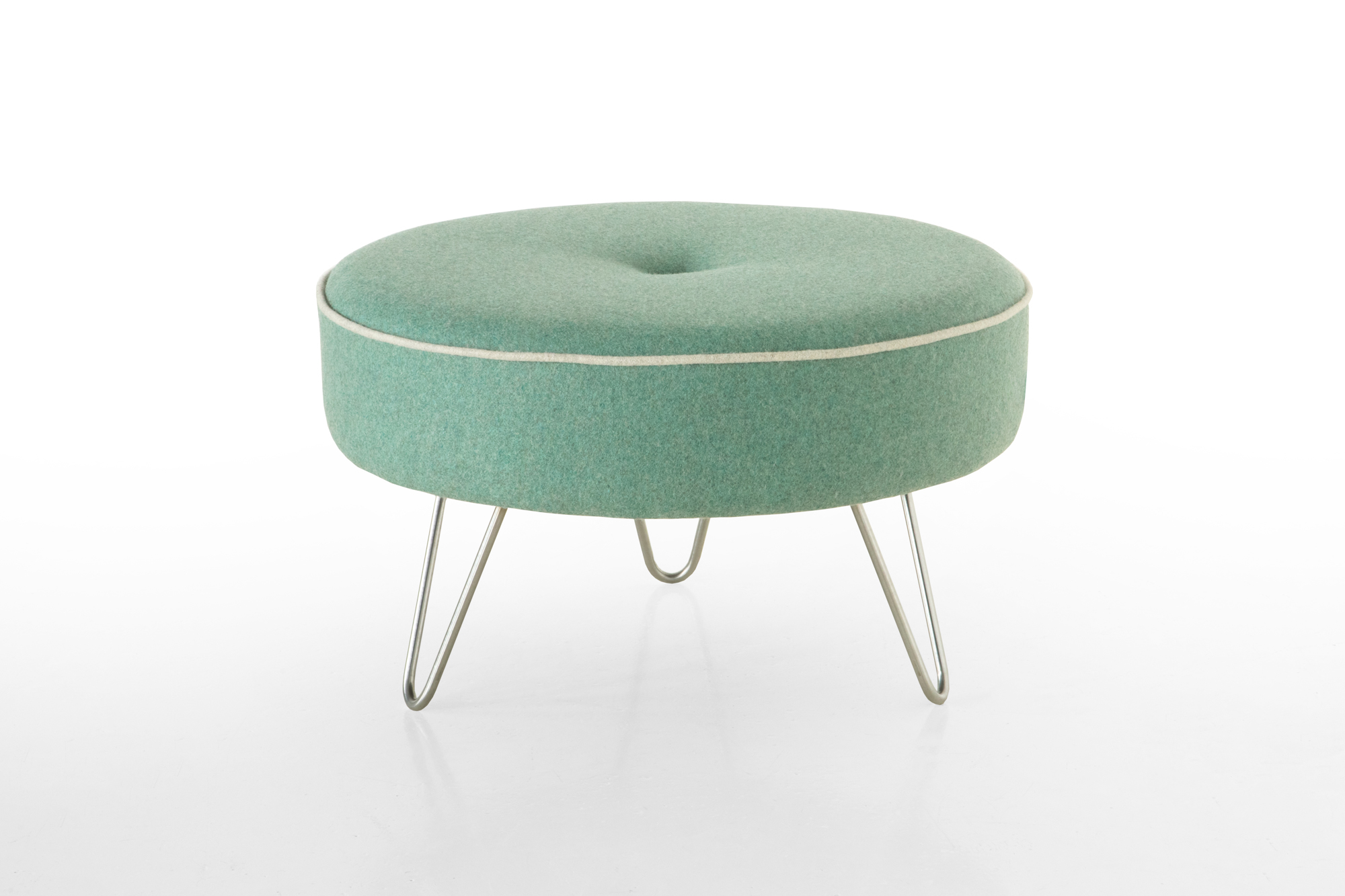 Contrast Piping Footstool