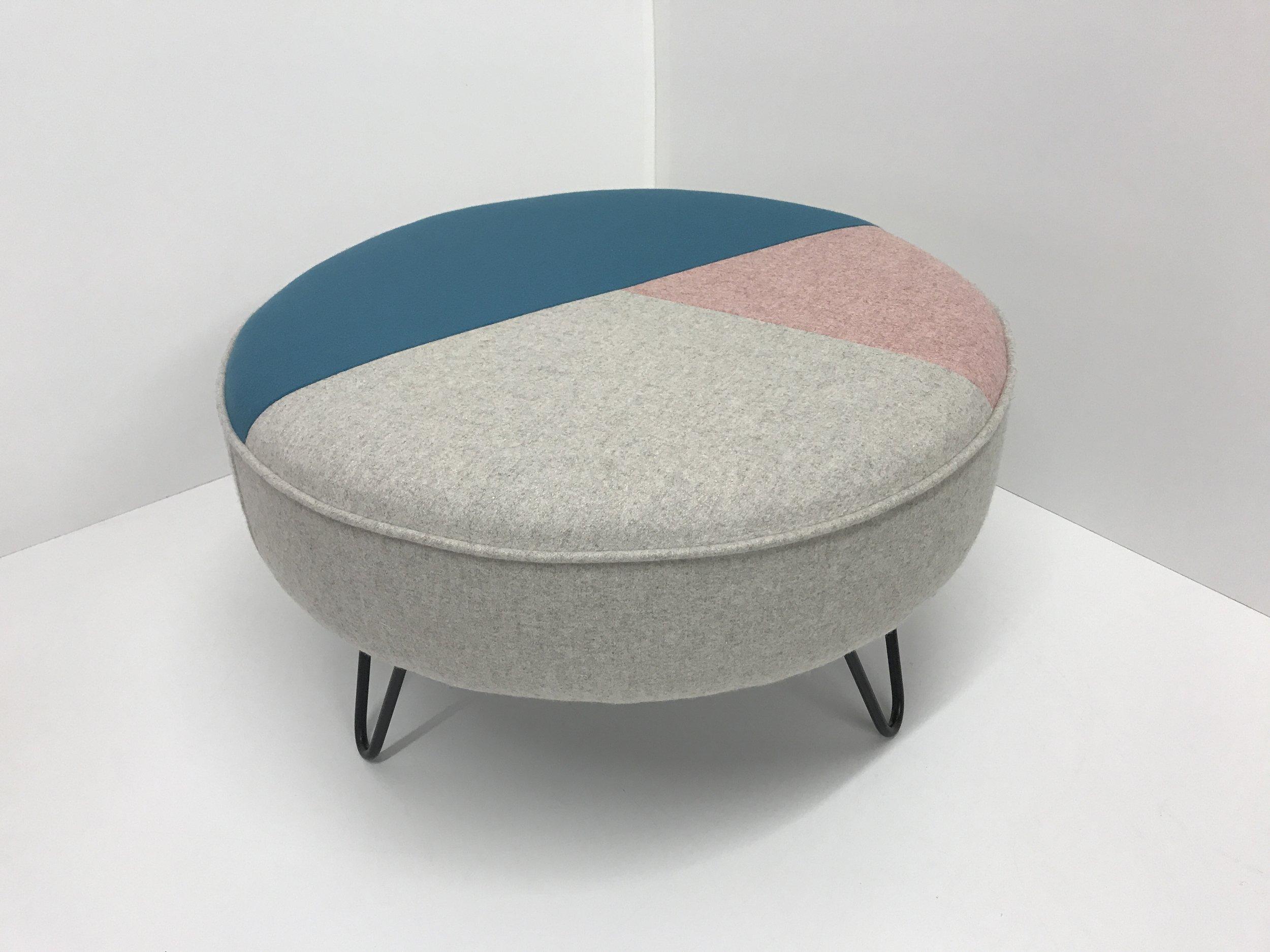 Geometric Hairpin Leg Footstool
