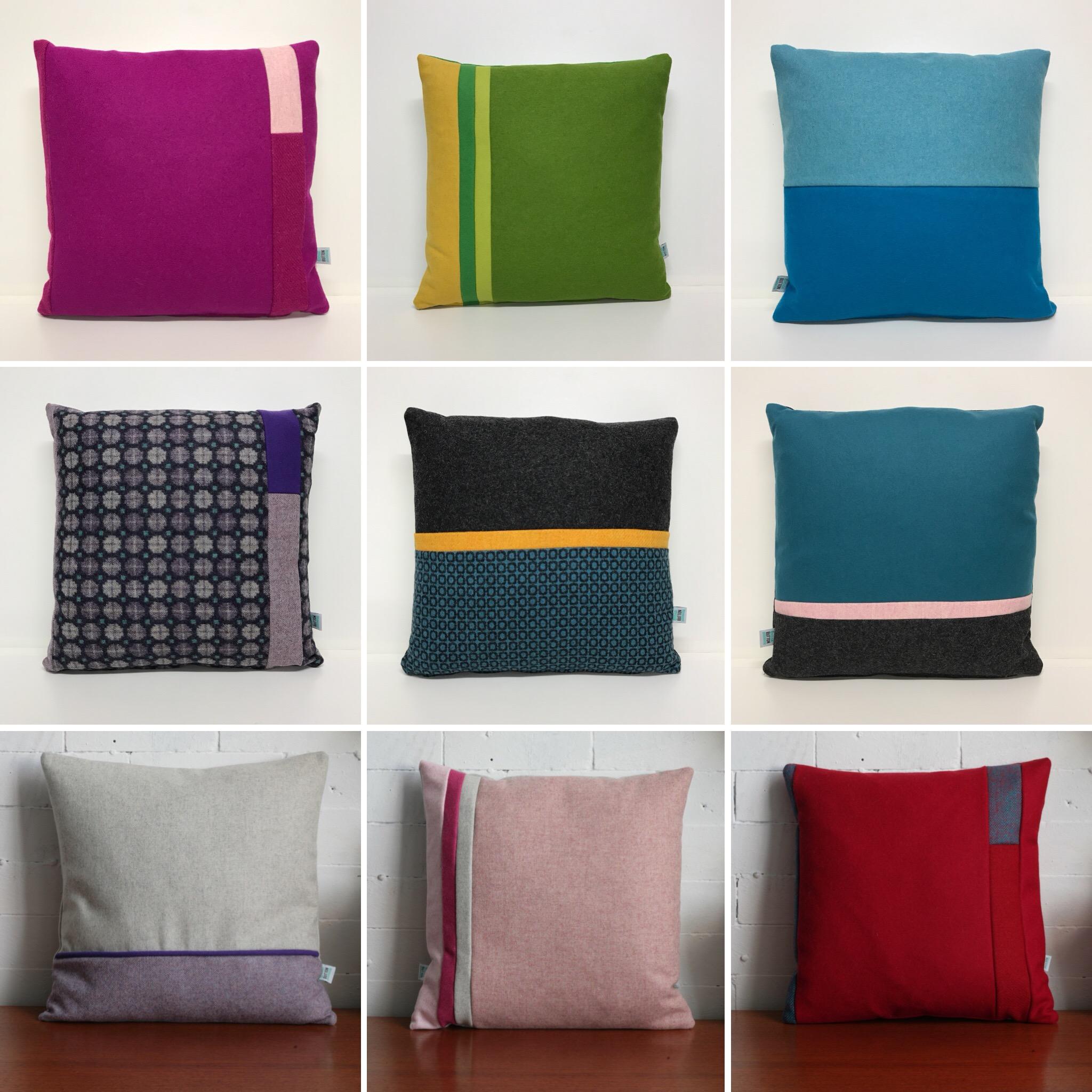 Colour Block Cushions -