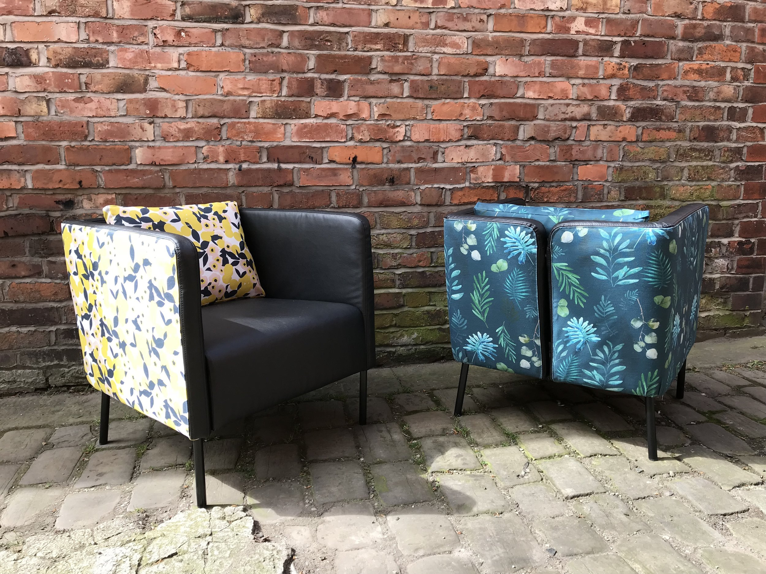 FESPA international - We re-worked these Ikea chairs for the trade fair in Berlin 2018