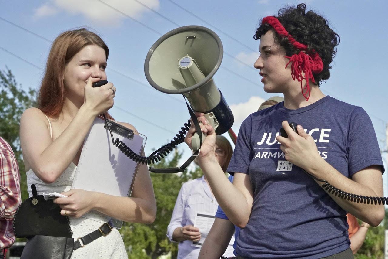 New college student megaphone with Alex.jpg