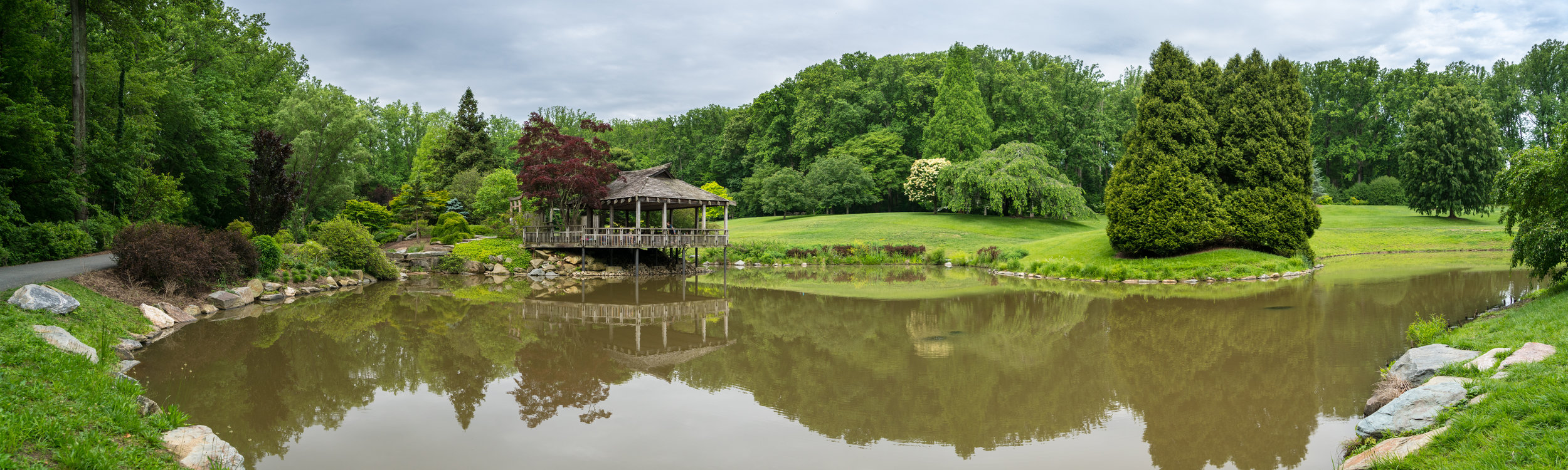 Brookside Gardens - always hope for a better sky but the view was still great