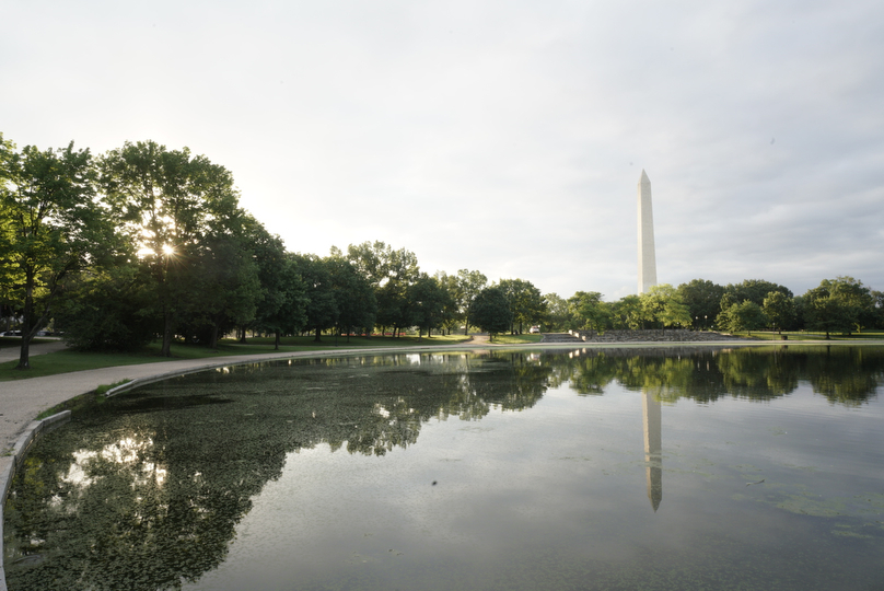 This is the before image taken at Constitution gardens. ---- 6:29am --- Sony A7R3 -- Sony 16-35/24mm, 1/13, f/20, ISO 400, Handheld.