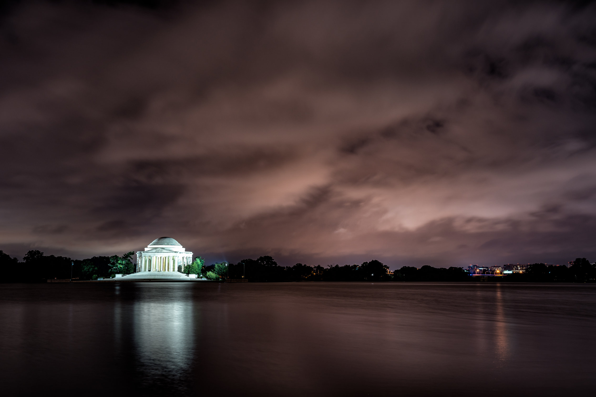 From the edge of the Tidal Basin by the Paddle Board parking lot just after 4am