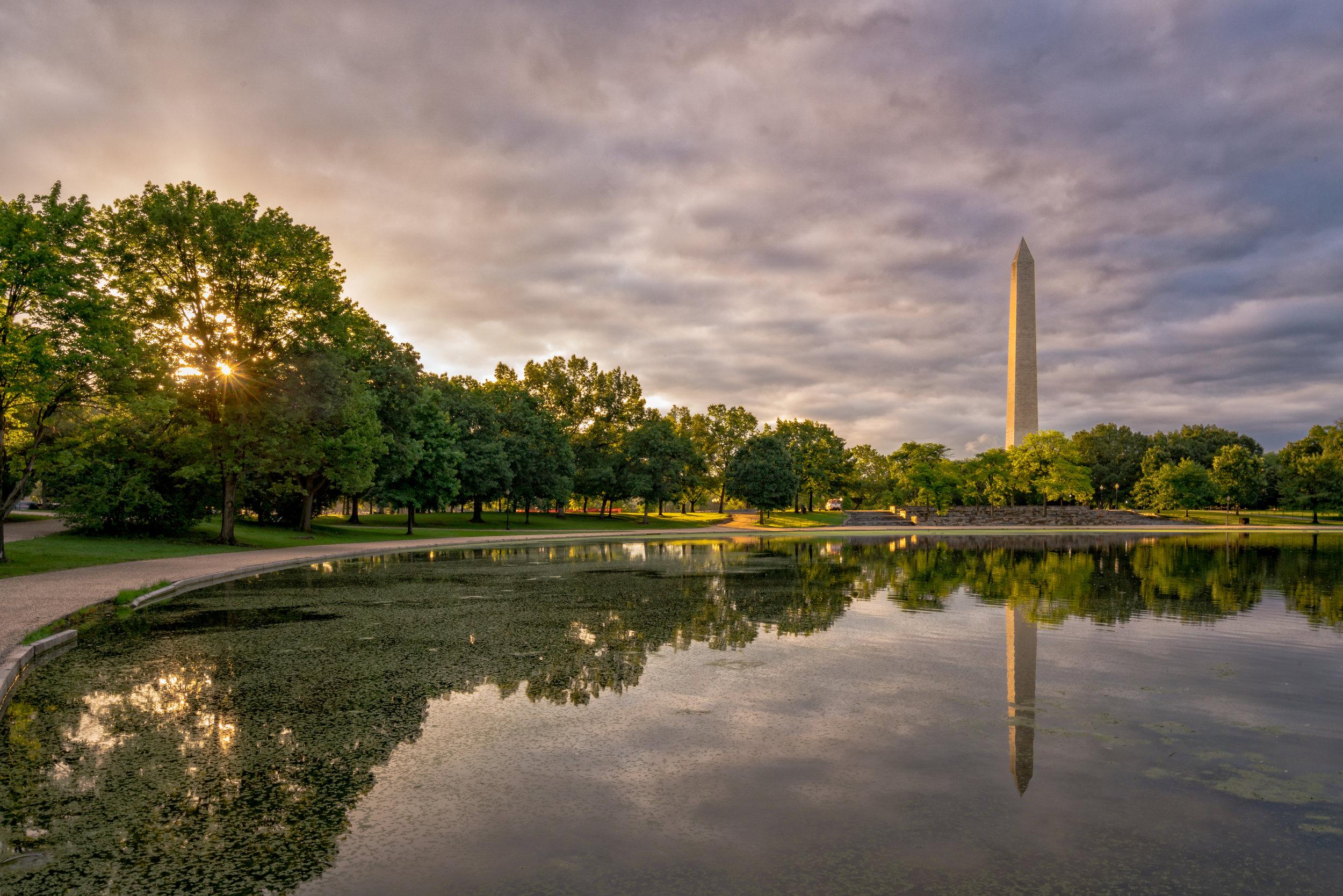 Constitution Gardens around 6:30am
