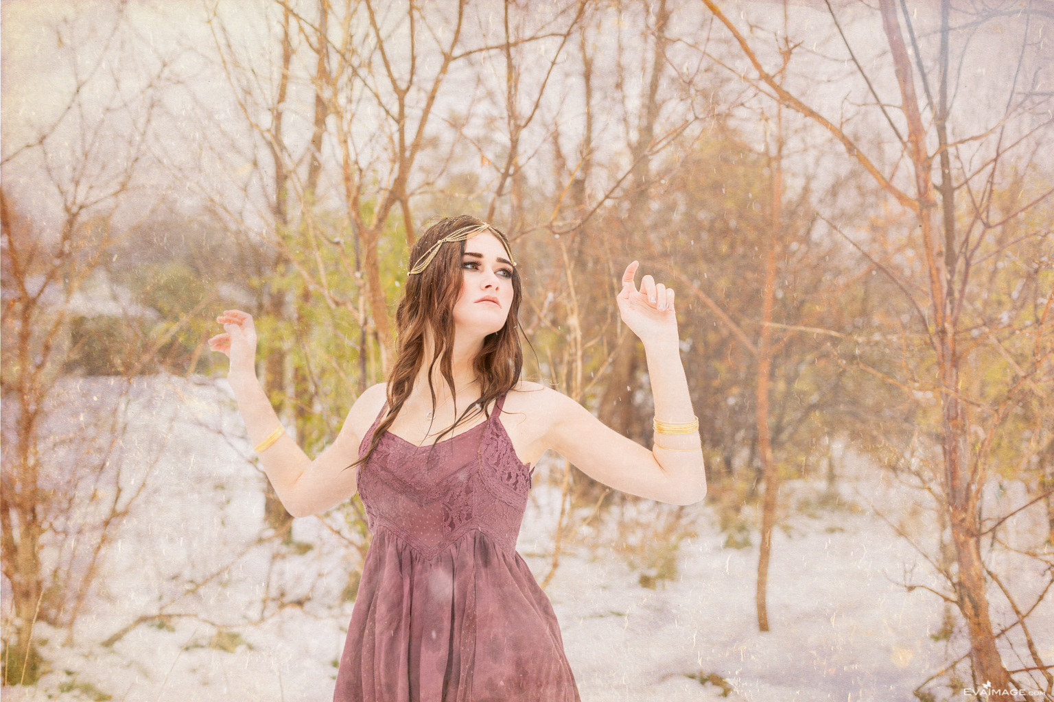 Bohemian Girl Winter Portrait
