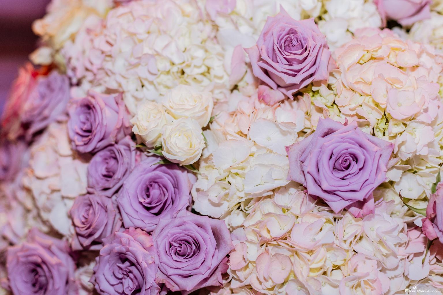 Purple White Roses White Hydrangeas Toronto Florist by EvaImage Photography.jpg