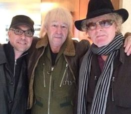 The author with Pete Watts, Ian Hunter.