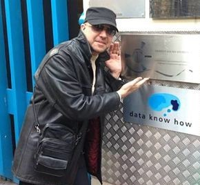 The author at Trident Studios, Soho, London