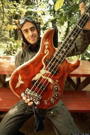Pete with his Doug Irwin bass - Pete Sears Facebook