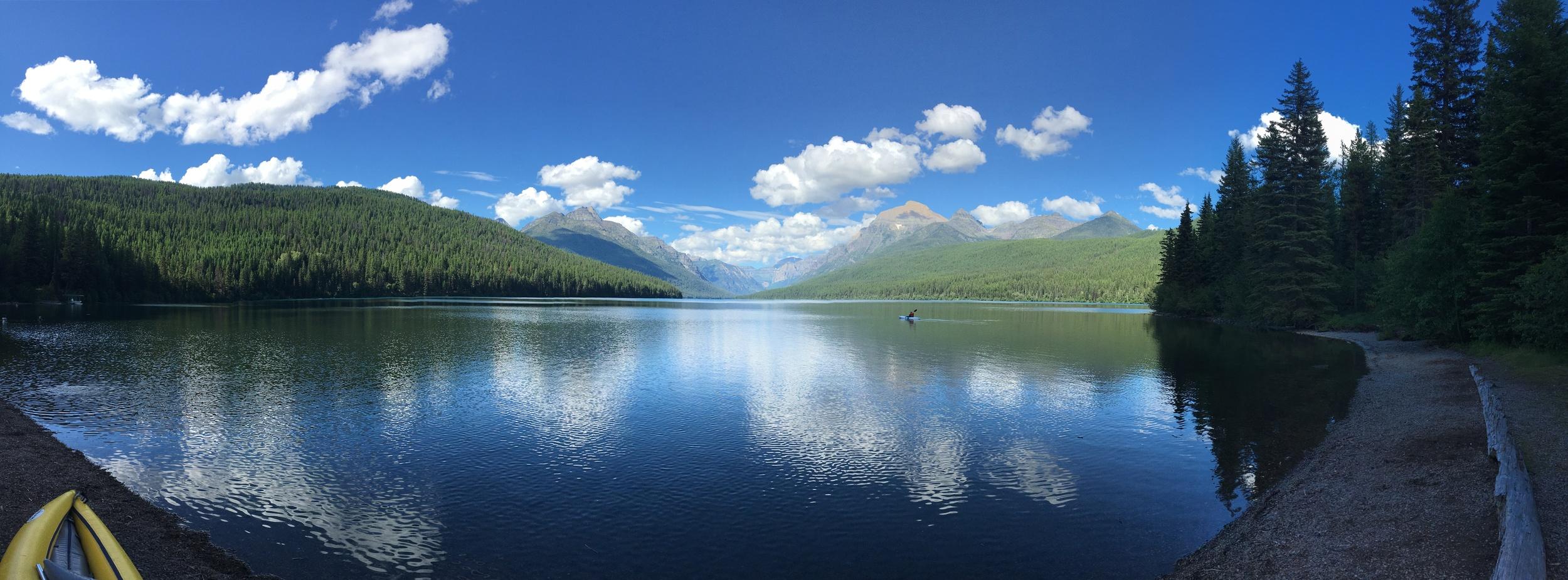 Bowman Lake pano