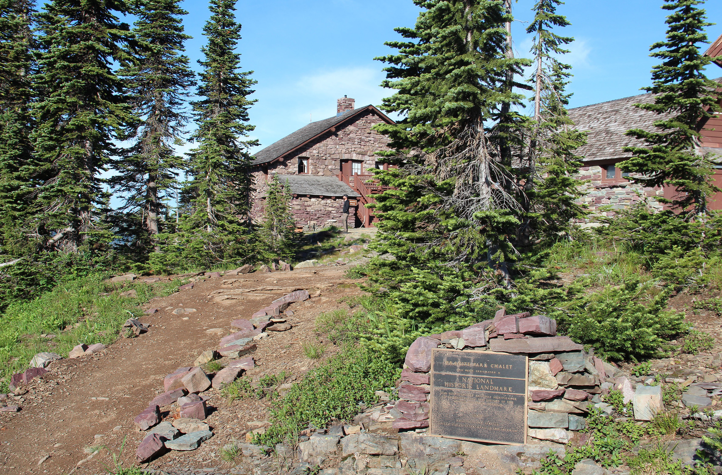 Granite Park Chalet with sign.jpg