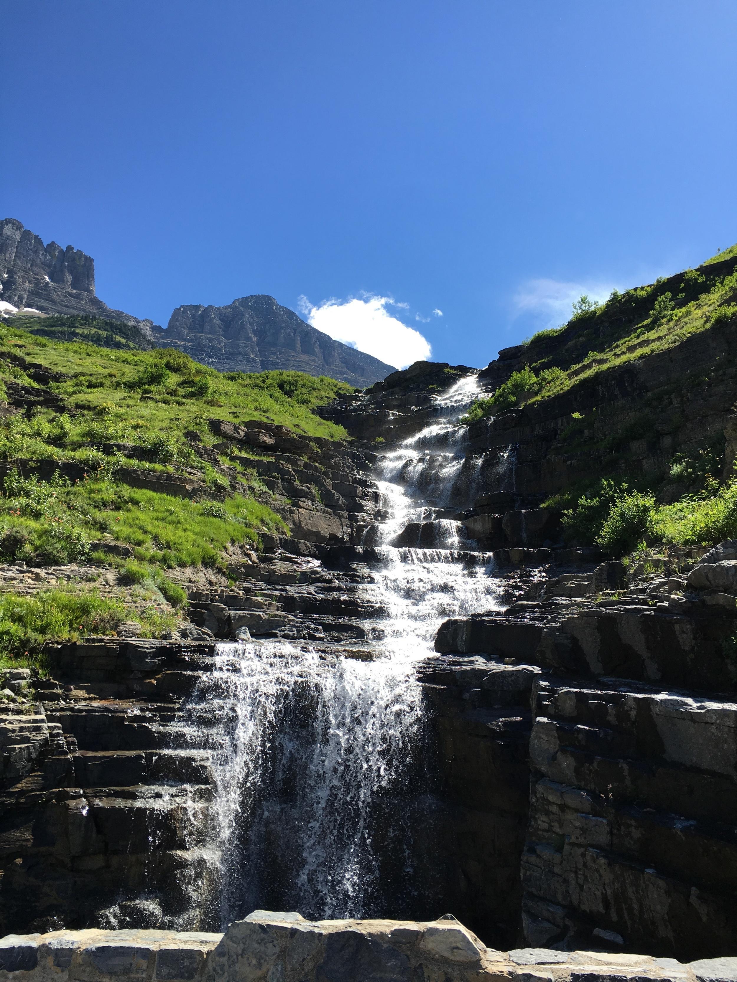 Going to the Sun waterfalls.JPG