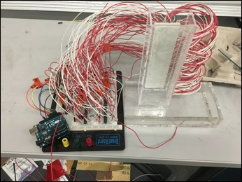 Figure 4: Testing our design with one column and 85 wires.