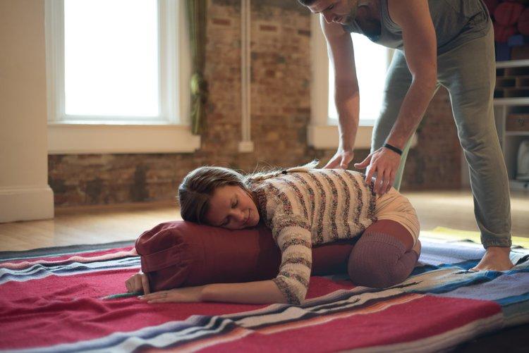 childspose yoga restorative yoga