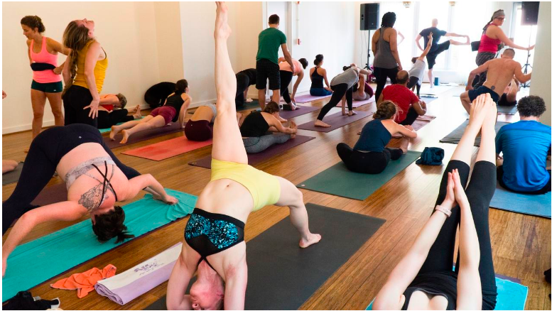 Flow's Mysore room on Sundays. All levels are welcome from the absolute beginner to advanced.